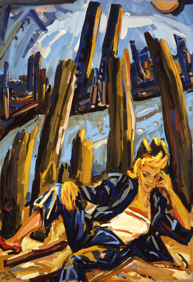 1984-1_the-queen-of-the-dungle_1984_acryl-nessel_260x180cm