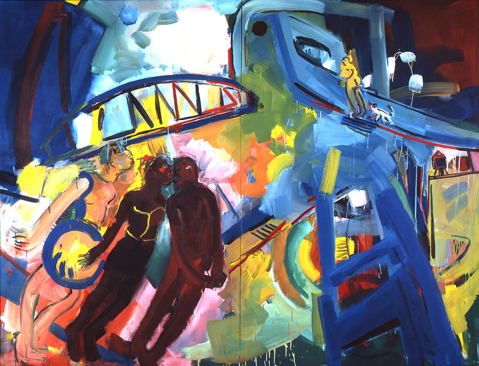 1987-21_under-the-bridge_1987_acryl-leinwand_170x224cm