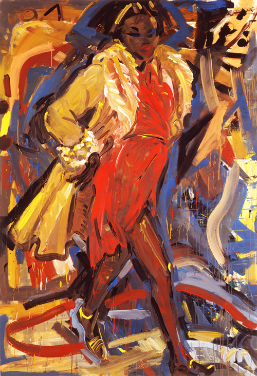 My sister in New York, 1983, Acryl auf Leinwand, 190 x 130 cm